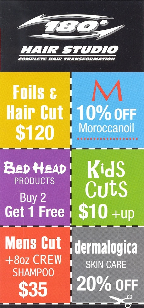 Kelowna hair salon product specials for 180 degrees salon dubai