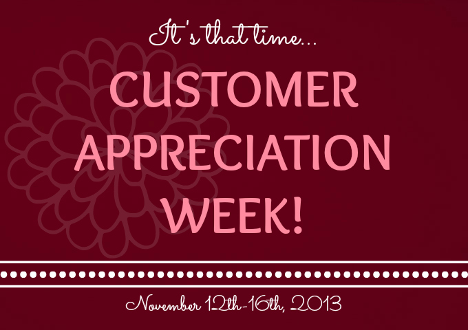 Customer appreciation week 2013 180 degrees hair studio for 180 degree salon